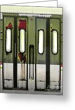 Old El Train Doors Greeting Card