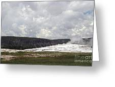 Old Faithful At Rest Greeting Card