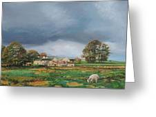 Old Farm - Monyash - Derbyshire Greeting Card
