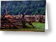 Old Farm Hay Rake Greeting Card