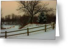 Old Fashiion Winter Greeting Card