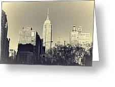 Old-fashioned Empire State Building Greeting Card