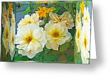 Old Fashioned Yellow Rose - Mirror Box Greeting Card
