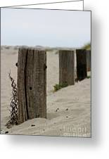 Old Fence Poles Greeting Card