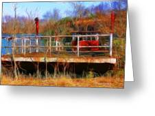 Old Ferry On The Cumberland Greeting Card