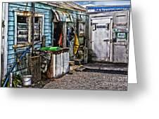 Old Fishing Store At Rawehe Greeting Card