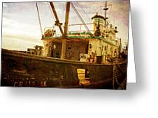 Old Fishing Trawler Greeting Card