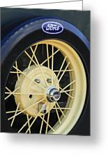 Old Ford Wheel Greeting Card