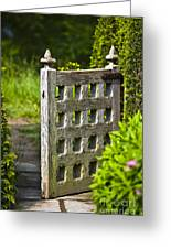 Old Garden Entrance Greeting Card
