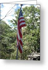 Old Glory Greeting Card by Jeannie Atwater Jordan Allen