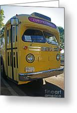 Old Gm Bus Greeting Card