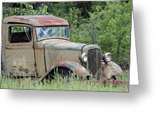 Abandoned Truck In Field Greeting Card