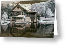 Old Grist Mill In Infrared Greeting Card