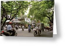 Old Hanoi Life Greeting Card