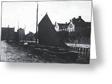 Old Harbor 1880 Greeting Card