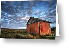 Old Hay Barn Greeting Card by Martin Williams