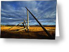 Old Homestead Near Pelly Crossing Greeting Card