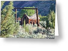 Old Homestead On Trout Creek Greeting Card