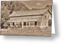 Old House In The Cove Greeting Card