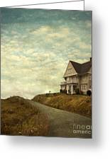 Old House On Rural Road Greeting Card