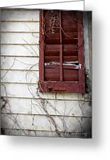 Old House Red Shutter 3 Greeting Card