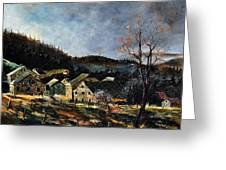 Old Houses In Mogimont Greeting Card