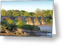 Old Interurban Bridge Greeting Card