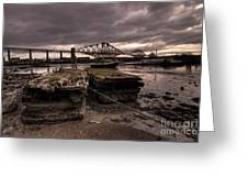 Old Jetty By The Bridge Greeting Card