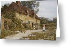 Old Kentish Cottage Greeting Card