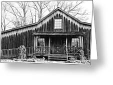 Old Log House Greeting Card