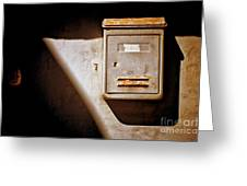 Old Mailbox With Doorbell Greeting Card