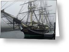 Old Massachusetts Sailing Ship Greeting Card