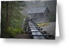 Old Mill In The Smokey Mountains Greeting Card