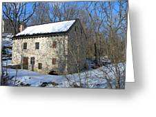Old Mill On Winters Road Greeting Card