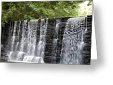Old Mill Waterfall Greeting Card