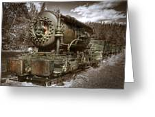 Old Mine Train Banff Greeting Card