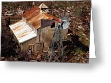 Old Mining Camp Greeting Card
