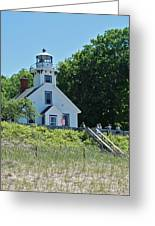 Old Mission Point Lighthouse 5306 Greeting Card by Michael Peychich