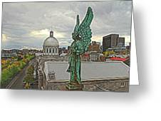 Old Montreal Angel Greeting Card