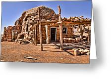 Old Navajo Stone House Greeting Card