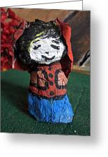 Old Newspaper Doll 07 Greeting Card
