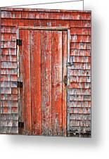 Old Orange Door  Greeting Card