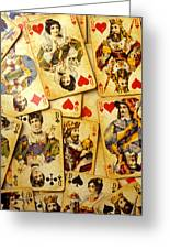 Old Playing Cards Greeting Card