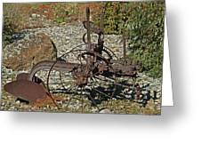Old Plow Greeting Card