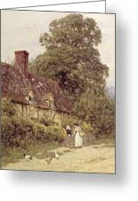 Old Post Office Brook Near Witley Surrey Greeting Card