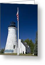 Old Presque Isle Light Station Greeting Card