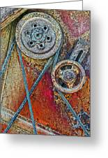 Old Pulleys Greeting Card