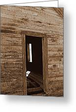 Old Ranch Hand Cabin Entry Greeting Card