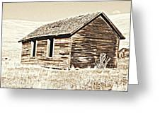 Old Ranch Hand Cabin L Greeting Card