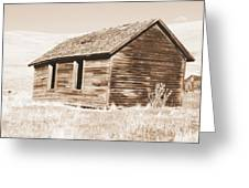 Old Ranch Hand Cabin Ll Greeting Card